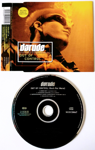 Darude - Out Of Control (Back For More) (CD Single) (EX/EX)
